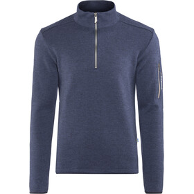 Ivanhoe of Sweden Assar Sweat-shirt manches longues avec demi-zip Homme, steelblue